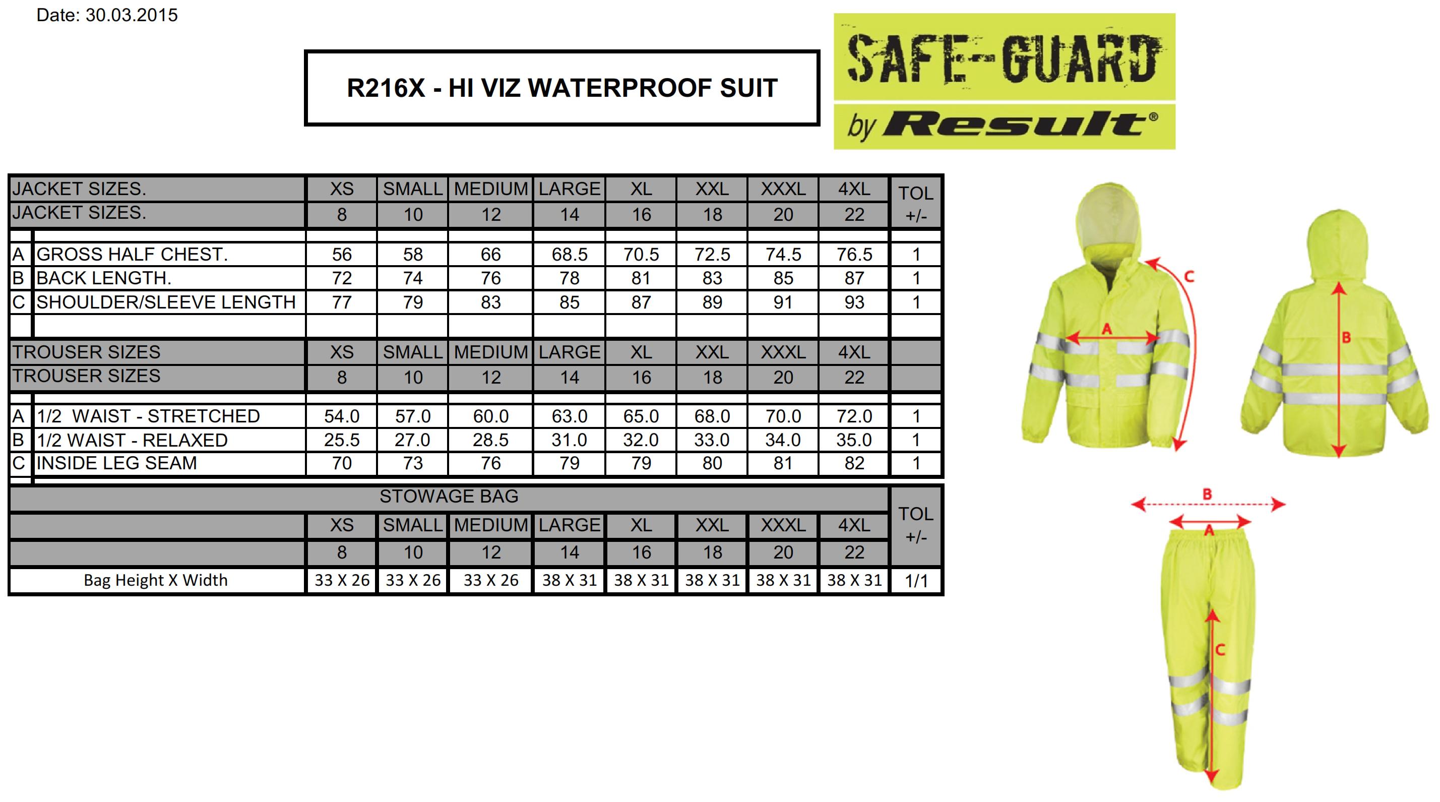 Result: High Viz Waterproof Suit R216X