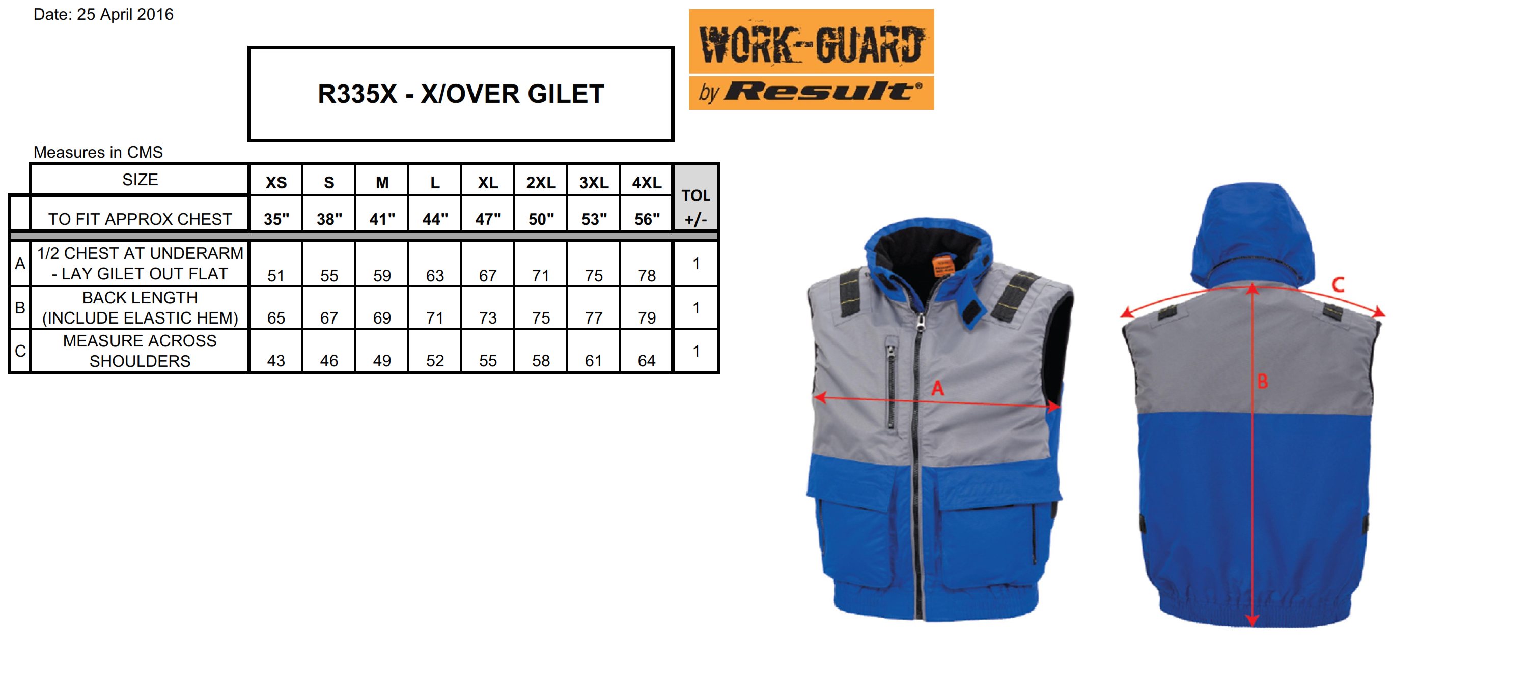 Result: X-OVER Gilet R335X