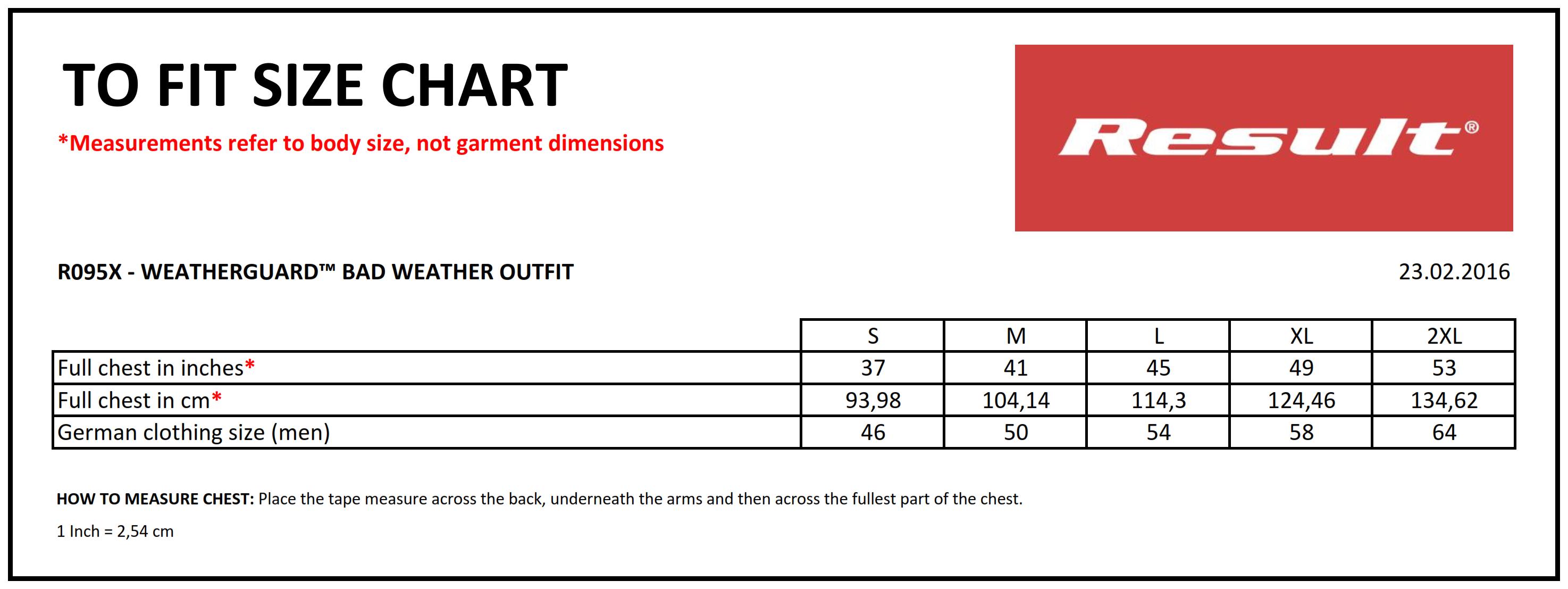 Result: Weatherguard™ Schlechtwetter-Anzug R095X