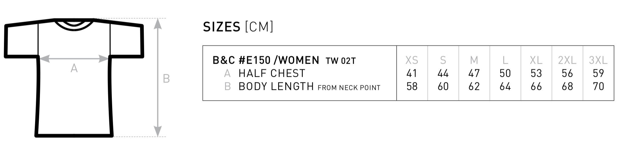 B&C: #E150 women T-Shirt TW02T | nawajo.de - Großhandelspreise für ...